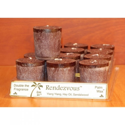 Aloha Bay Candle Votive Essential Oil Rendezvous - 12 Candles - Case of 12