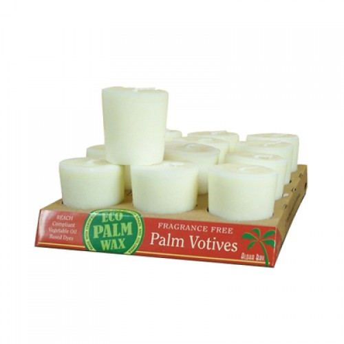 Aloha Bay Candle Votive Essential Oil Unscented White - 12 Candles - Case of 12