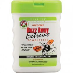 Quantum Research Buzz Away Extreme Repellent Pop-Up Towelette Dispenser - 25 Towelettes