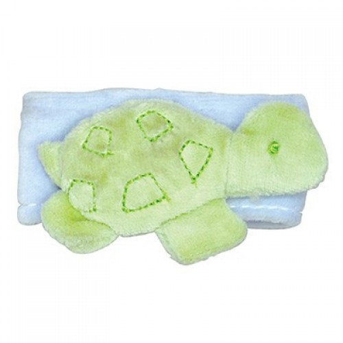 Green Sprouts Organic Velour Wrist Rattle - Turtle (1, 1 rattle)