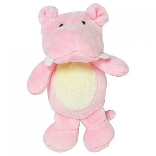 Green Sprouts Organic Velour Rattle Toy - Rose Hippo (1, 1 toy)