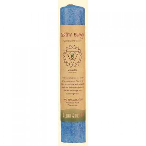 Aloha Bay Chakra Pillar Candle Positive Energy Blue - 1 Candle