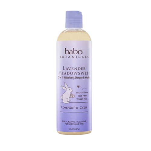 Babo Botanicals 3 in 1 Bubble Bath and Shampoo and Wash  - Lavender Meadowsweet (1, 13.5  oz.)
