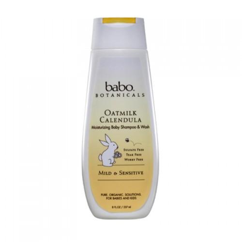 Babo Botanicals Moisturizing Baby Shampoo and Wash  - Oatmilk Calendula (1, 8  oz.)