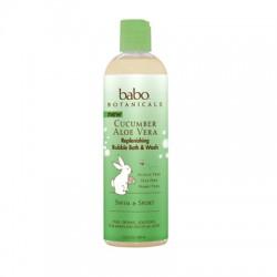 Babo Botanicals Replenishing Bubble Bath and Wash - Cucumber Aloe Vera (1, 13.5  oz.)