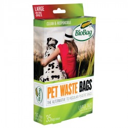 BioBag Dog Waste Bags - Large - Case (35 bags per Box, 12 Boxes per Case)