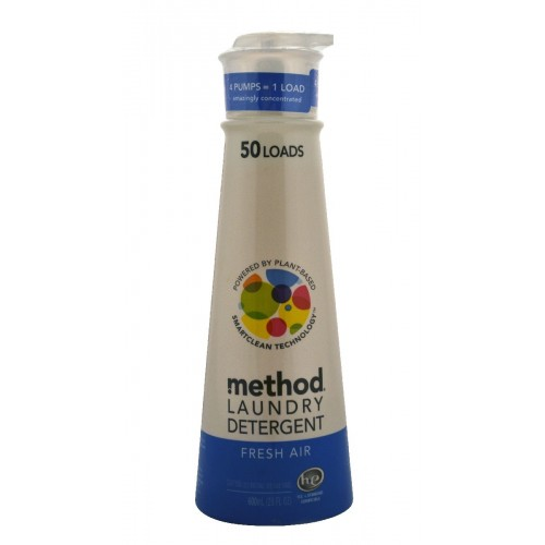 Method Laundry Detergent with smartclean technology, Fresh Air, 50 Load, 20 oz.