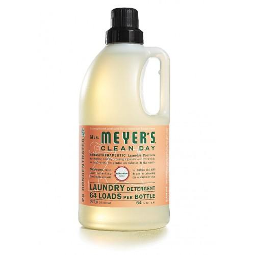 Mrs. Meyer's Clean Day Laundry Detergent 64 Loads, Geranium, 64 oz