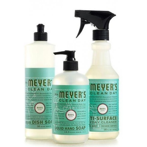 Mrs Meyers Clean Day Kitchen Basics Set Basil - Best smelling bathroom cleaner
